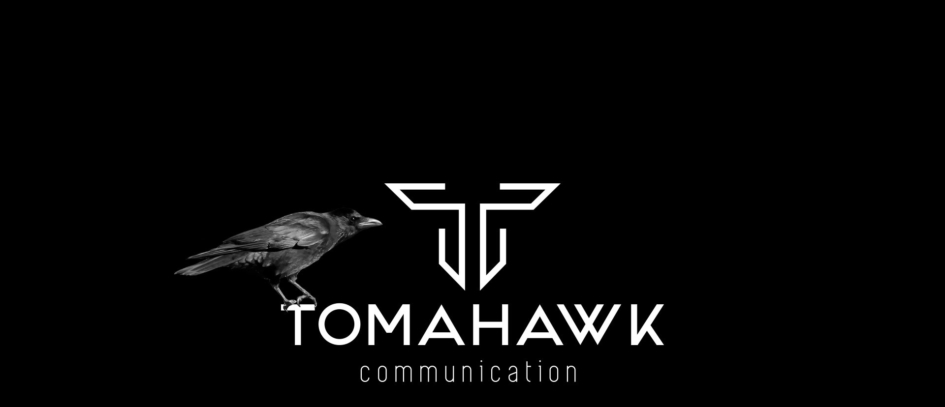 Tomahawk-communication-logo-corbeau-